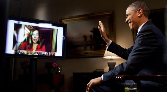 President Obama Participates in a Google Hangout